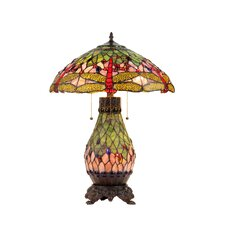 Dragonfly Anisoptera Purity Double Lit Table Lamp