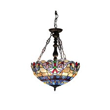 Victorian 2 Light Grenville Inverted Ceiling Pendent