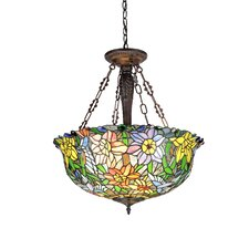 Flora 3 Light Inverted Ceiling Pendant