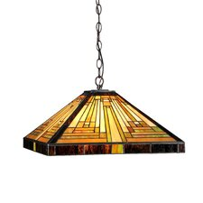 <strong>Chloe Lighting</strong> Mission 2 Light Innes Ceiling Pendant