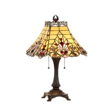 "Victorian 23.8"" H Table Lamp with Empire Shade"