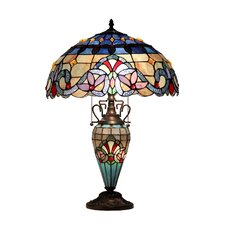"""Victorian Grenville 25"""" H Table Lamp with Bowl Shade"""