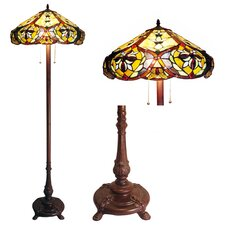 <strong>Chloe Lighting</strong> Tiffany Style Victorian Floor Lamp with 636 Glass Pieces