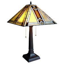 <strong>Chloe Lighting</strong> Tiffany Style Mission Table Lamp
