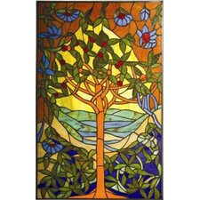 <strong>Chloe Lighting</strong> Tiffany Style Tree of Life Window Panel