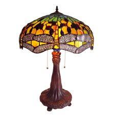 """Dragonfly 26.5"""" H 2 Light Table Lamp"""