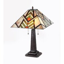 "Aberle 23.2"" H Table Lamp with Square Shade"