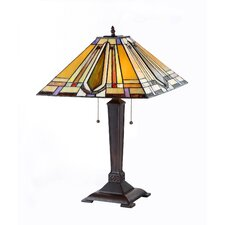 """Eda 24"""" H Table Lamp with Square Shade"""