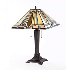 """Devon 24"""" H Table Lamp with Square Shade"""