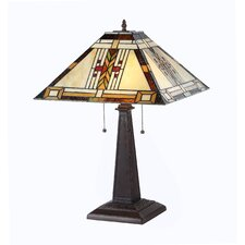 "Gode  23.2"" H Table Lamp with Square Shade"