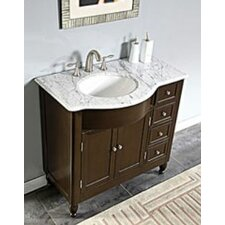 "Kelston 38"" Single Sink Cabinet Bathroom Vanity Set"