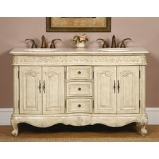 "Andrea 58"" Double Sink Bathroom Vanity Set"