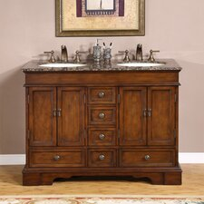 "Bradford 48"" Bathroom Double Sink Cabinet Vanity Set"