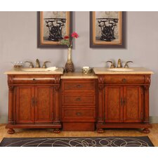 "Emily 82.5"" Double Sink Bathroom Vanity Set"