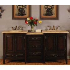 """Evelyn 73"""" Double Sink Bathroom Vanity Set"""