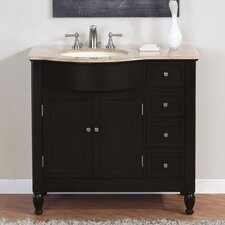 "<strong>Silkroad Exclusive</strong> Hamilton 38"" Single Bathroom Vanity Set"