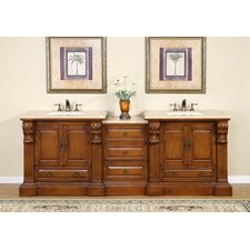 "<strong>Silkroad Exclusive</strong> Montgomery 95"" Double Bathroom Vanity Set"