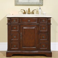 "Marsala 40"" Single Sink Bathroom Vanity Set"