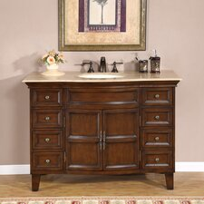 "<strong>Silkroad Exclusive</strong> Claire 48"" Single Sink Bathroom Vanity Set"