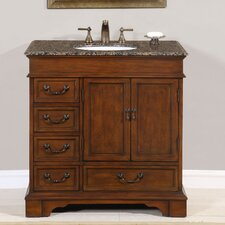 "<strong>Silkroad Exclusive</strong> Ashley 36"" Single Sink Bathroom Vanity Set"
