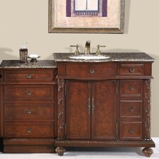 "Victoria 56"" Single Sink Bathroom Cabinet Vanity Set"