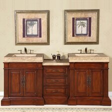 "<strong>Silkroad Exclusive</strong> Stanton 83"" Double Sink Bathroom Vanity Set"