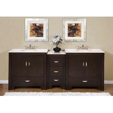 """Ilene 89"""" Double Sink Bathroom Vanity Set"""