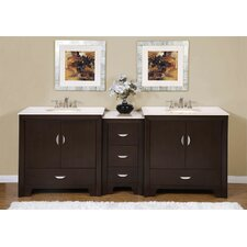 "Ilene 89"" Double Sink Bathroom Vanity Set"