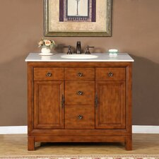 "Frances 42"" Single Sink Bathroom Vanity Set"