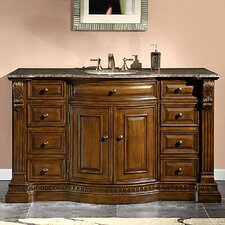 "Samantha 60"" Single Sink Cabinet Bathroom Vanity Set"