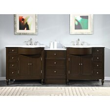 "Kelston 95"" Double Sink Cabinet Bathroom Vanity Set"
