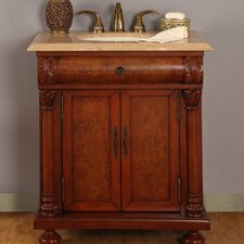 "<strong>Silkroad Exclusive</strong> Emily 32"" Single Sink Bathroom Vanity Set"