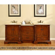 "Casshern 87"" Double Bathroom Vanity Set"