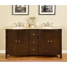 "Kimberly 67"" Double Bathroom Vanity Set"