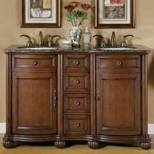 "<strong>Silkroad Exclusive</strong> Adela 52"" Double Sink Bathroom Vanity Set"