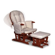 7-Position Recliner Glider and Ottoman