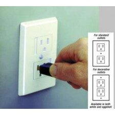 Safe Plate Electrical Outlet Cover in White