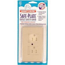 Safe Plate Electrical Outlet Cover in Almond