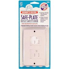 <strong>Mommy's Helper</strong> Safe-Plate Décor Outlet Cover in White