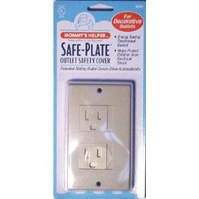 Safe-Plate Décor Outlet Cover in Almond