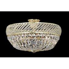 6 Light Crystal Semi Flush Light