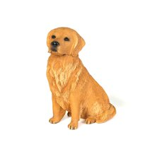 Original Size Sculptures Sandicast Sitting Retriever Figurine