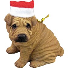 Red Chinese Shar-Pei Christmas Ornament