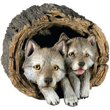 Forever Friends Wolf Pups Sculpture