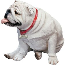 Life Size Large Bulldog Sculpture in White