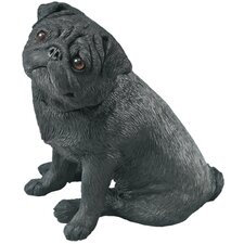 Mid Size Pug Sculpture in Black