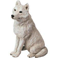 Mid Size Sculptures Artic Wolf Figurine