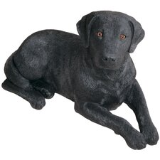 Original Size Labrador Retriever Sculpture in Black