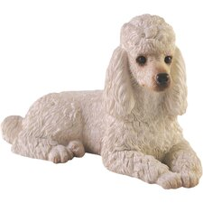 Small Size Poodle Sculpture in White