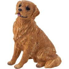 <strong>Sandicast</strong> Small Size Sculptures Sitting Retriever Figurine